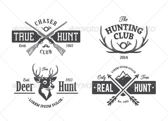 GraphicRiver Vintage Hunting Emblems 8433605