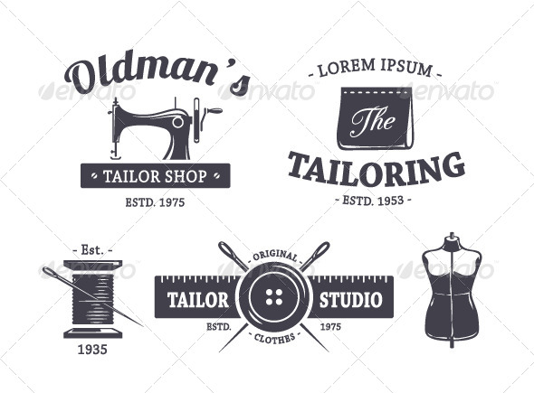 GraphicRiver Vintage Tailor Emblems 8433641