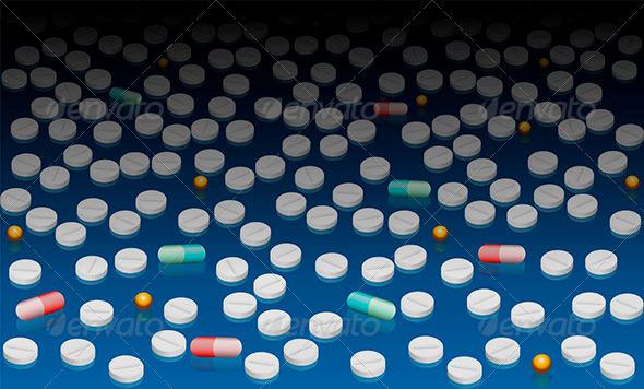 GraphicRiver Pills Wallpaper Blue Black Gradient 8433779