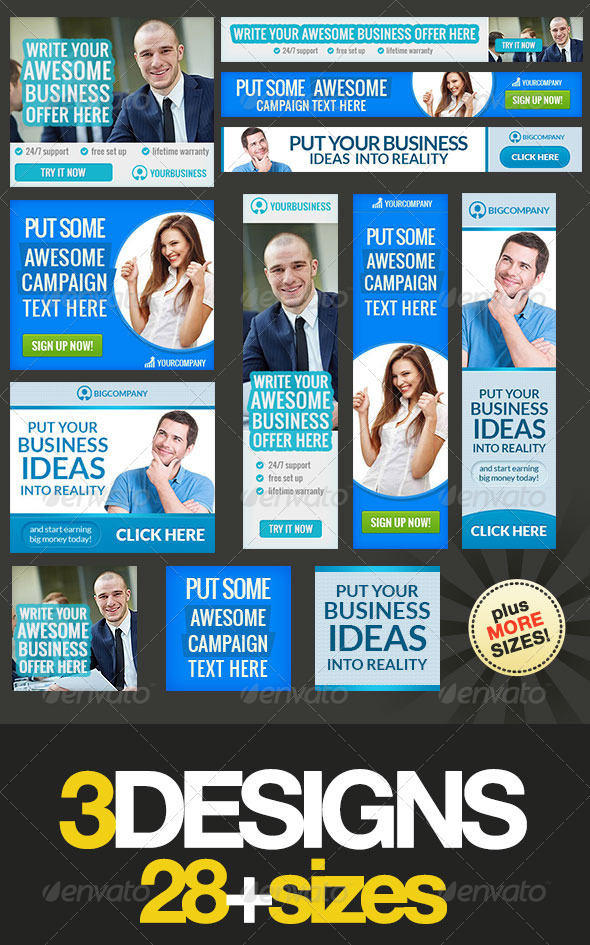 GraphicRiver Corporate Web Banner Set Bundle 12 8433801