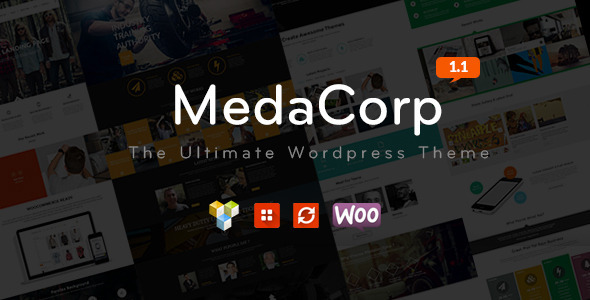 MedaCorp – The Ultimate WordPress Theme - Business Corporate