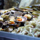 Market stall selling fresh scallops - PhotoDune Item for Sale