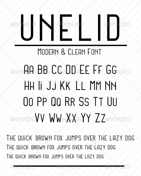 GraphicRiver Unelid Sans Serif 8426878