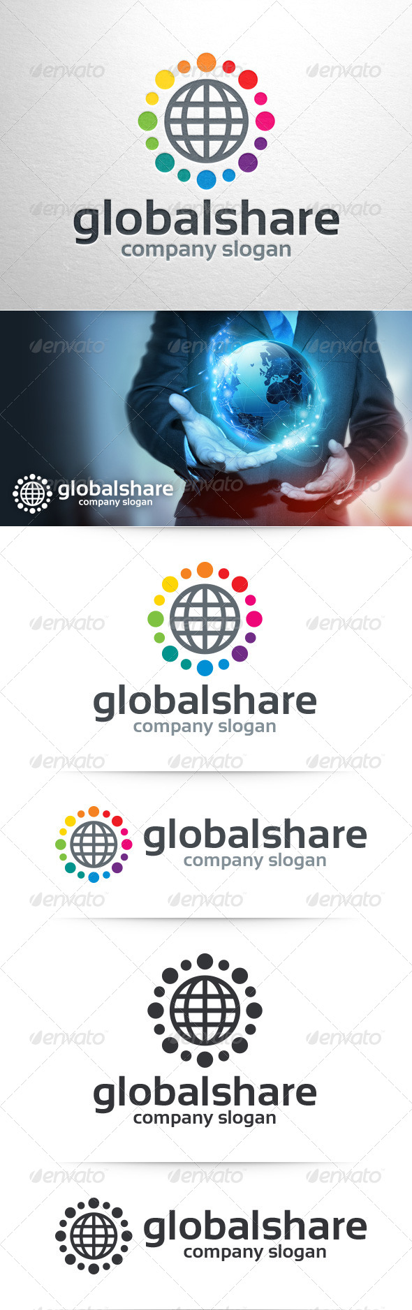 GraphicRiver Global Share Logo Template 8434084