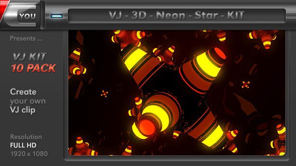 VJ 3D Neon Star Kit