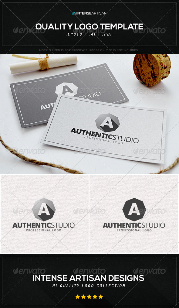 GraphicRiver Authentic Studio Logo Template 8432932