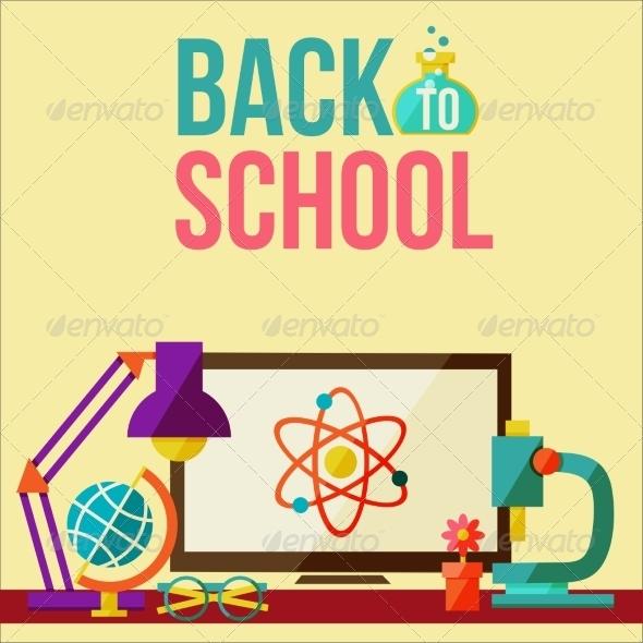 GraphicRiver Back to School Design Template 8434121