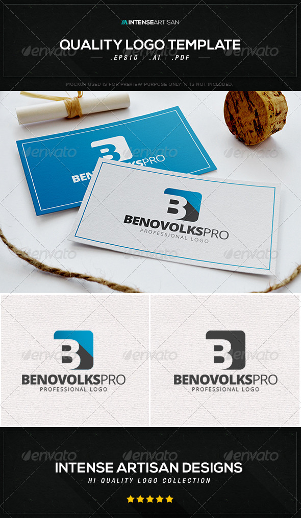 GraphicRiver Benovolks Pro Logo Template 8433167