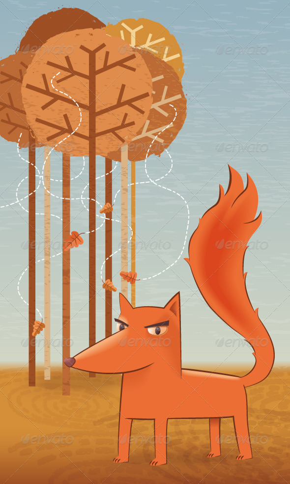 GraphicRiver The Fox in the Forest 8434136