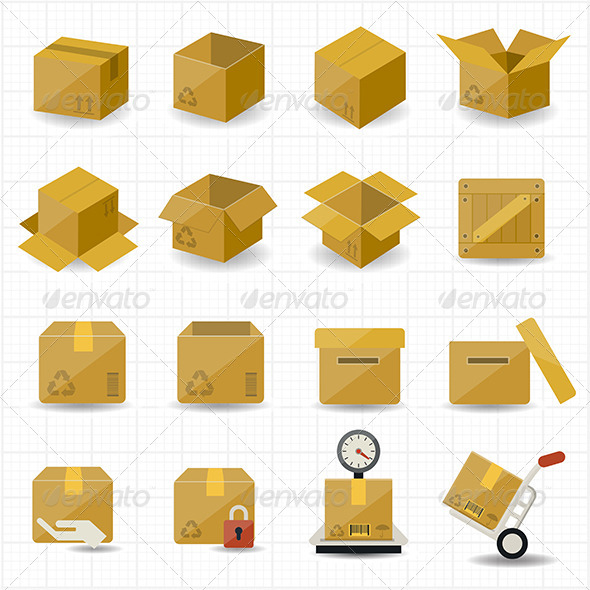 GraphicRiver Box and Package Icon 8434142