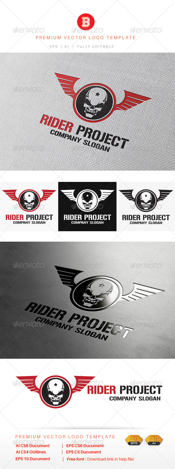 GraphicRiver Rider Project 8434185