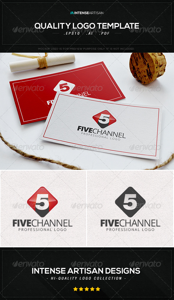 GraphicRiver Five Channel Logo Template 8434249