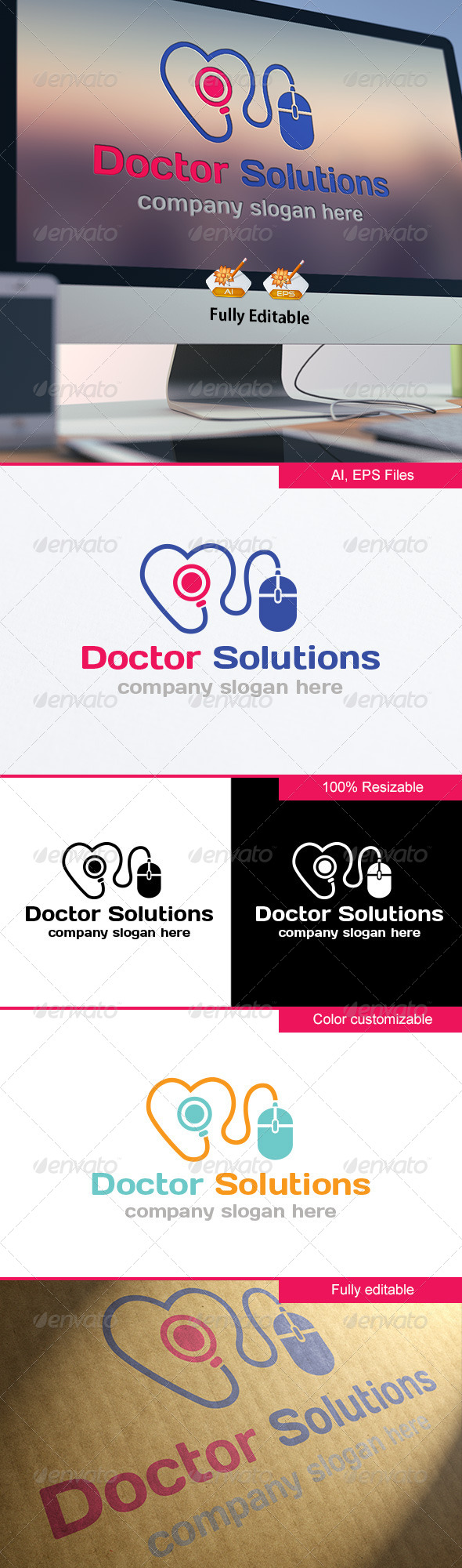 GraphicRiver Doctor Solutions Logo 8414869