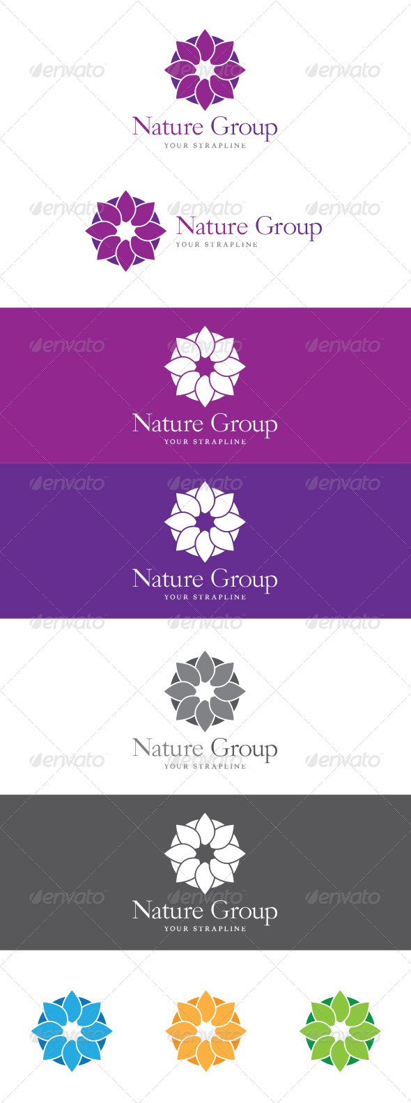 GraphicRiver Nature Group Logo 8434334