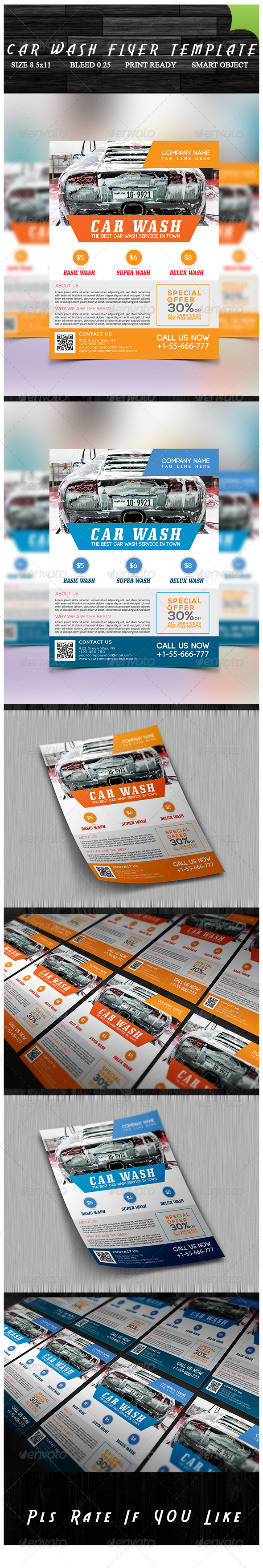 GraphicRiver Car Wash Flyer 8434355