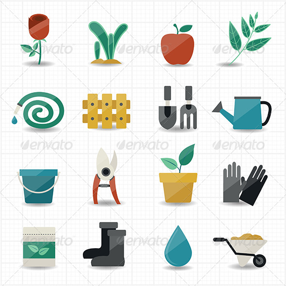 GraphicRiver Garden Icons 8434378