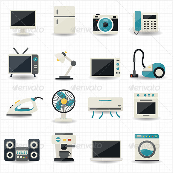 GraphicRiver Household Appliances and Electronic