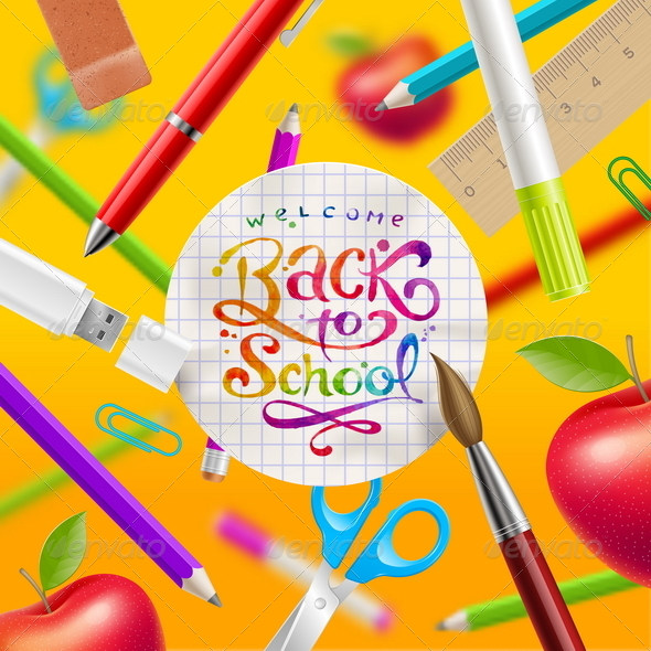 GraphicRiver Back to School Illustration 8434509