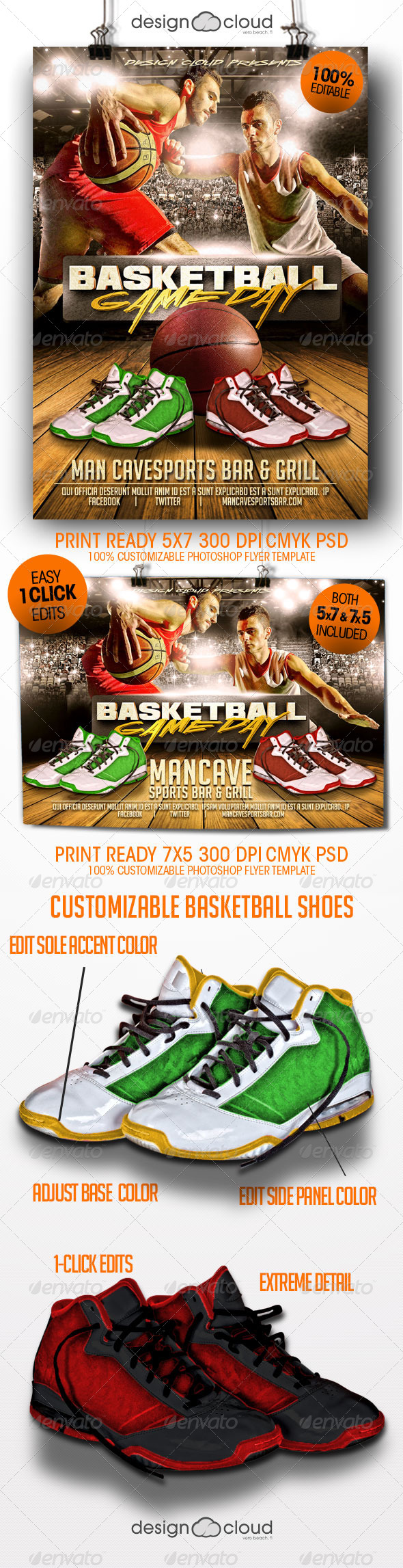 GraphicRiver Basketball Game Day Flyer Templates 8434535