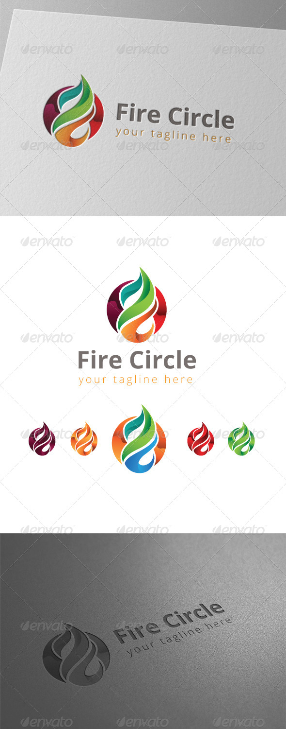GraphicRiver Fire Circle Logo 8434548