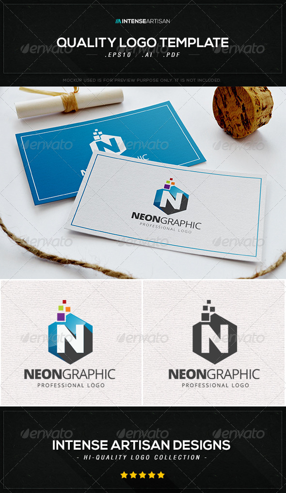 GraphicRiver Neon Graphic Logo Template 8434565