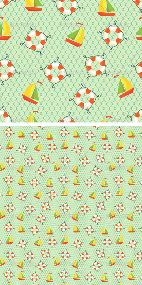 GraphicRiver Marine Seamless Pattern 8423018