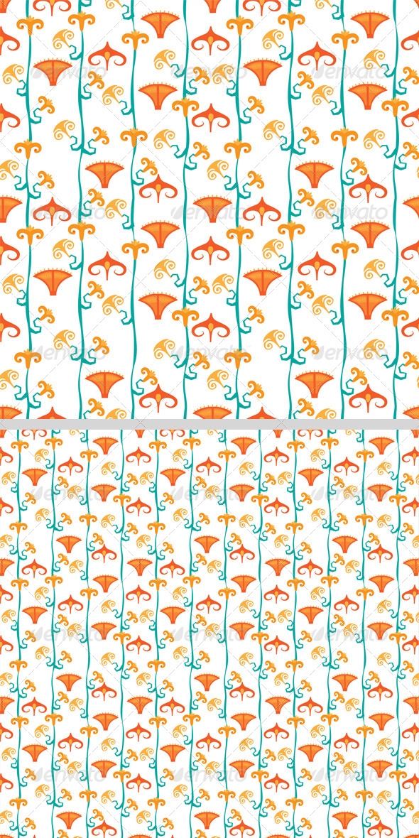 GraphicRiver Flowers Seamless Pattern 8423075