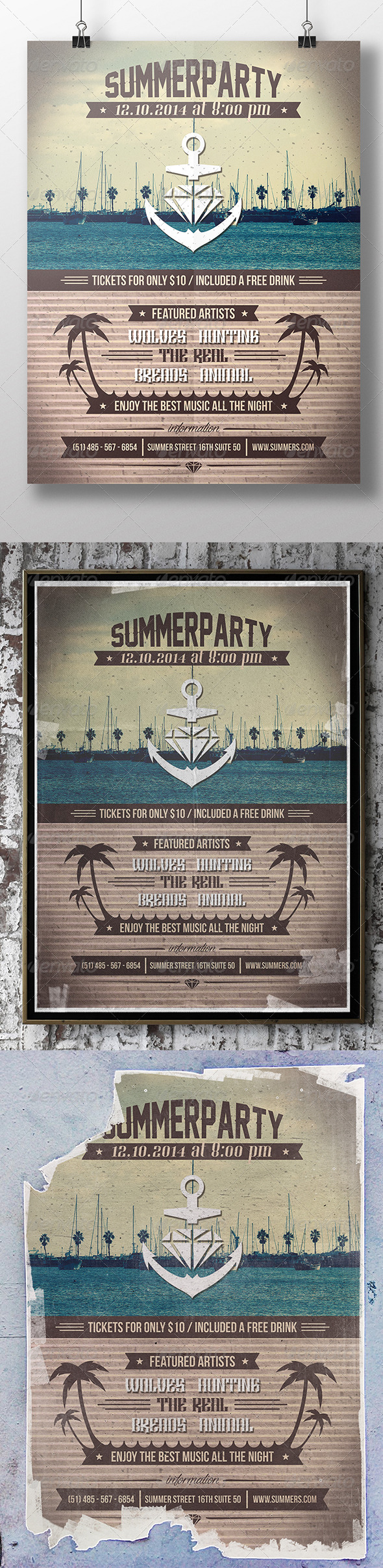 GraphicRiver Summer Party Poster Flyer 8434694
