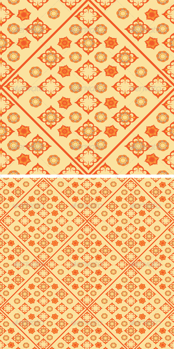 GraphicRiver Flowers Seamless Pattern 8423086