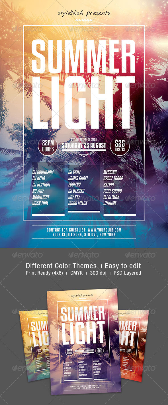 GraphicRiver Summer Light Flyer 8434724