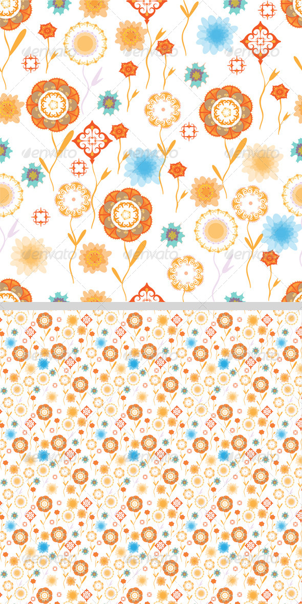 GraphicRiver Seamless Flower Pattern 8423167
