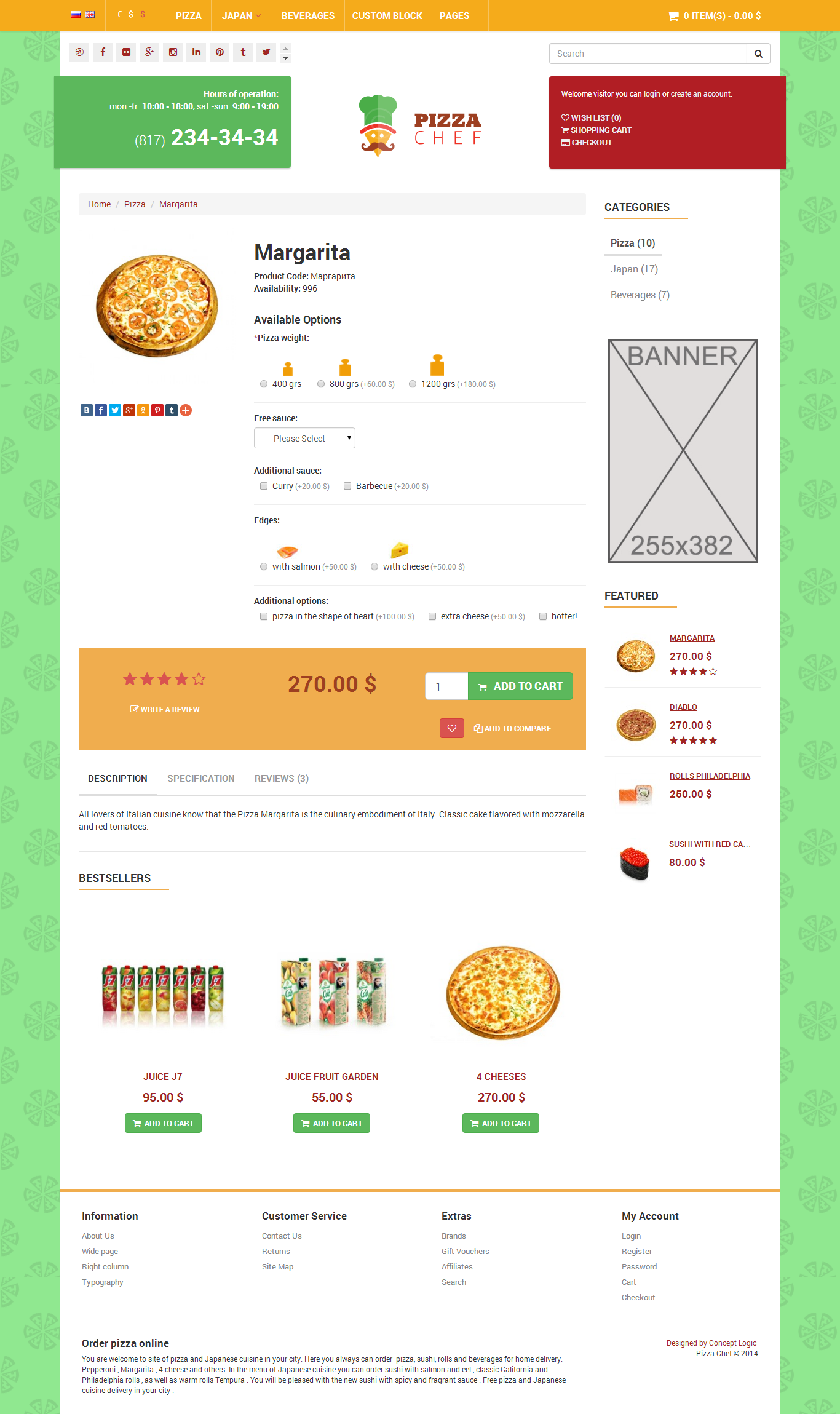 Bootstrap themes eshop chef delivery e shop html bootstrap for Yahoo ecommerce templates