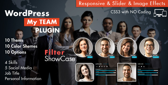 My Team Showcase WordPress Plugin - CodeCanyon Item for Sale