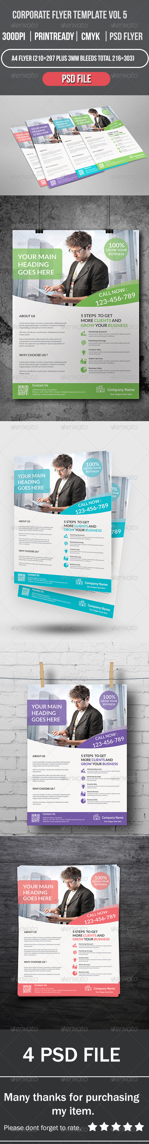 GraphicRiver Corporate Flyer Template Vol 5 8435034