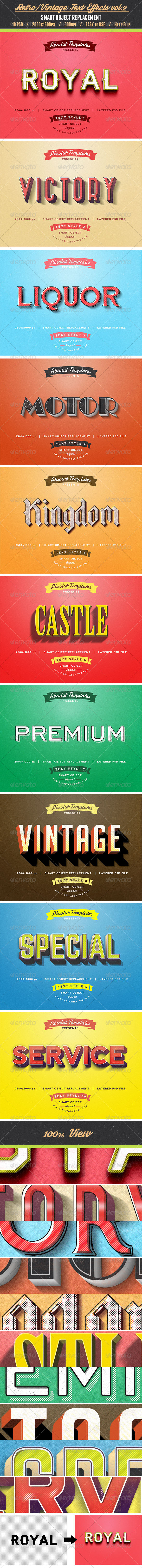 GraphicRiver Retro Vintage Text Effects vol.2 8435040