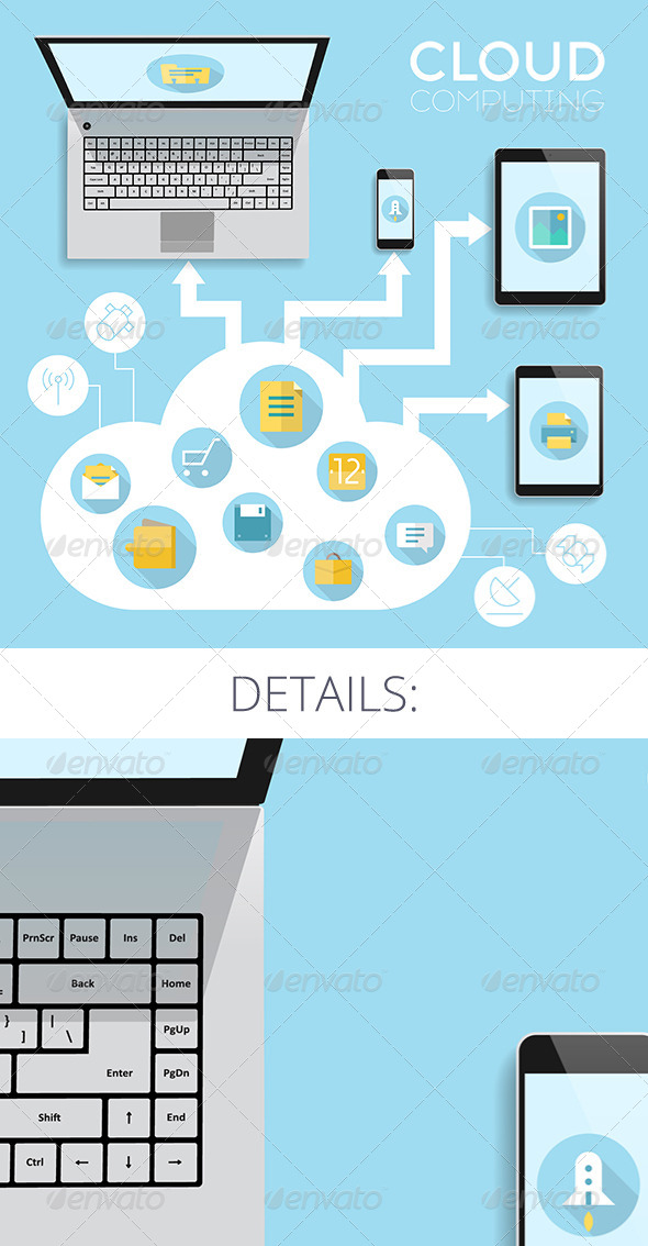 GraphicRiver Cloud Computing Concept 8435187