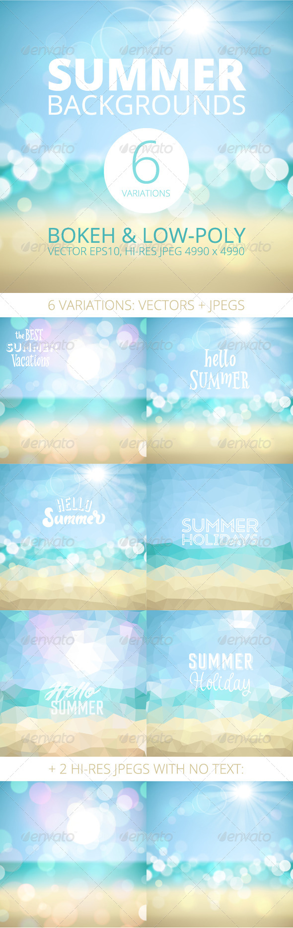 GraphicRiver Summer Holiday Tropical Beach Background 8435196