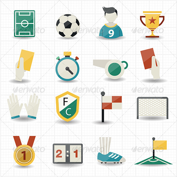 GraphicRiver Soccer Icons 8435202