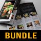 3 in 1 Sushi Food Menu BiFold Brochure Bundle 01 - GraphicRiver Item for Sale