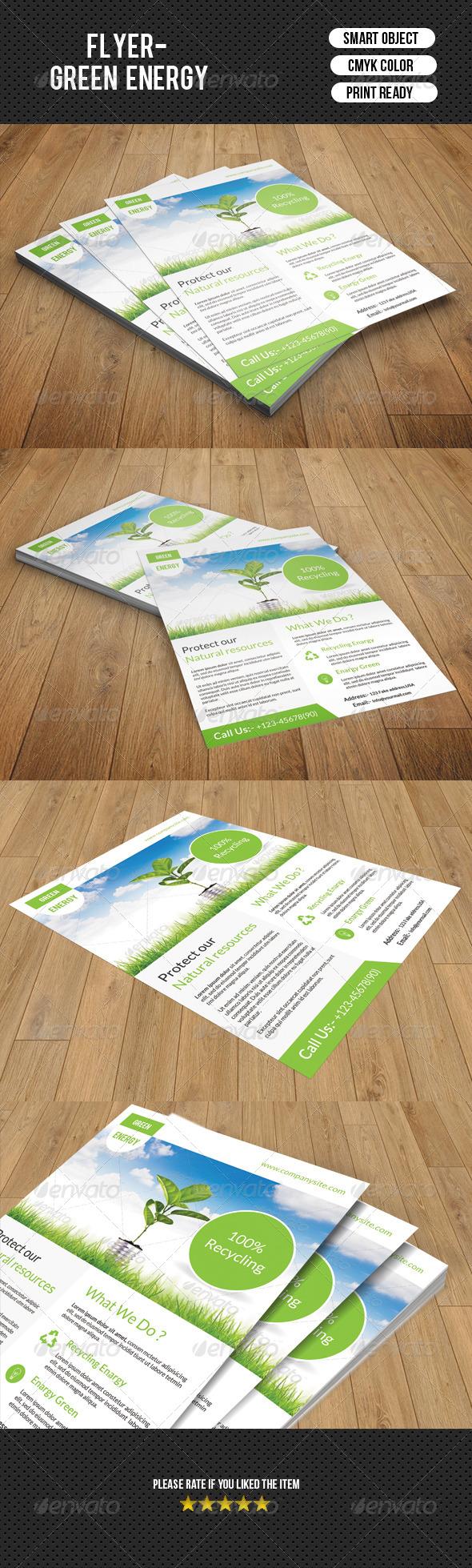 GraphicRiver Green Energy Flyer-V94 8435422