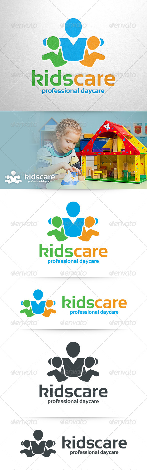 GraphicRiver Kids Care Logo Template 8435617