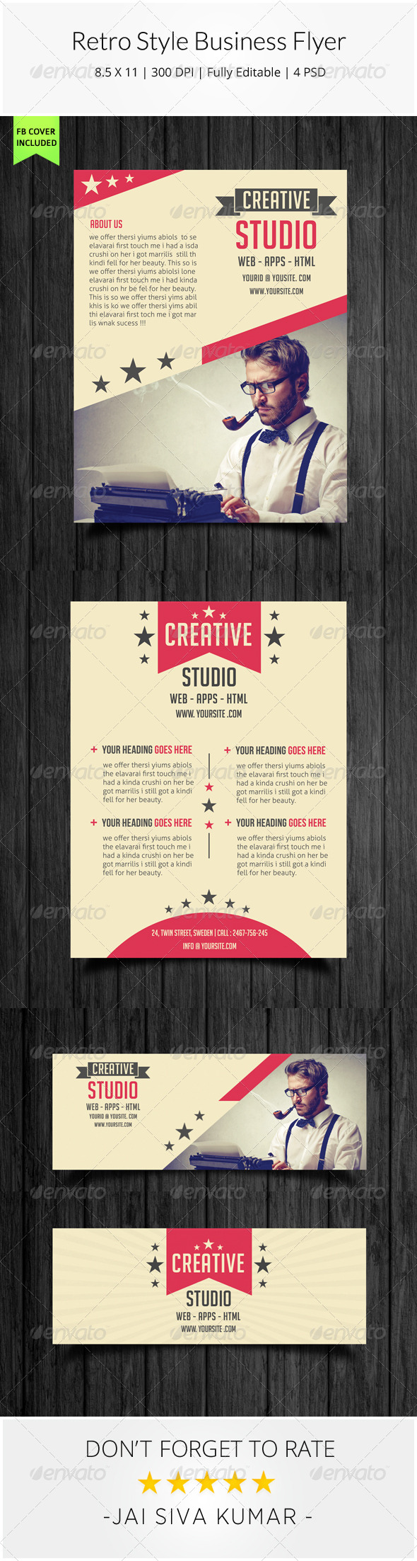 GraphicRiver Retro Style Business Flyer 8435736