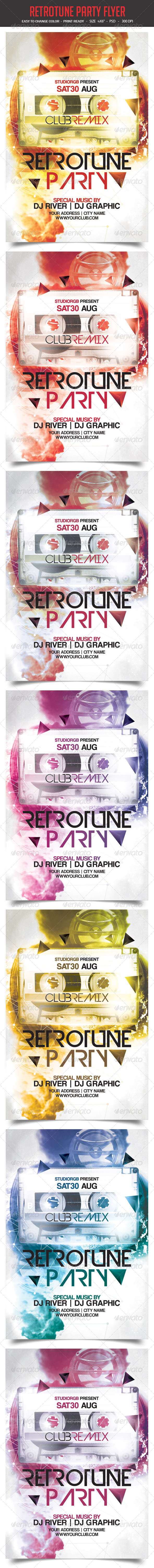 Retro Tune Party Flyer