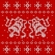 Red Knitted Sweater with Two Bells - GraphicRiver Item for Sale