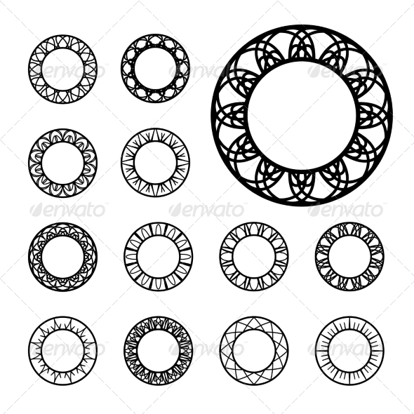 GraphicRiver Round Ornament Set 8435834