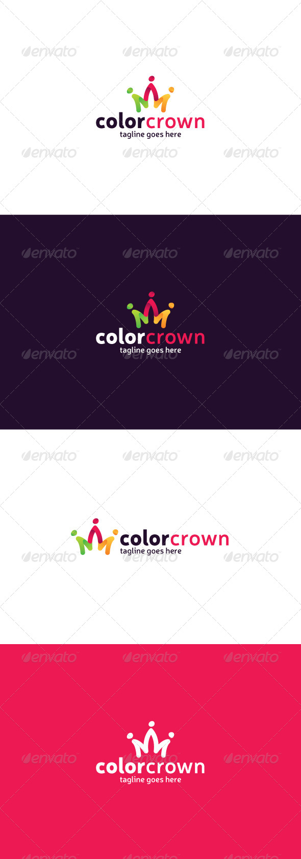 GraphicRiver Color Crown Logo 8435855