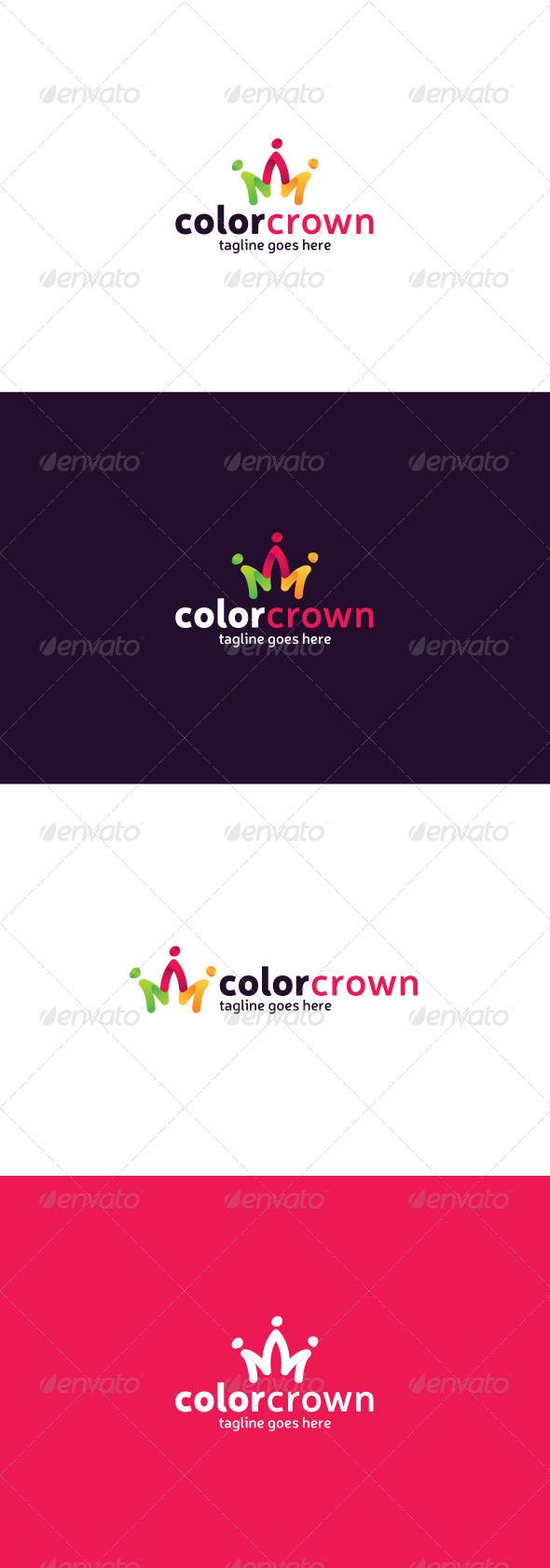 GraphicRiver Color Crown Logo 8435855
