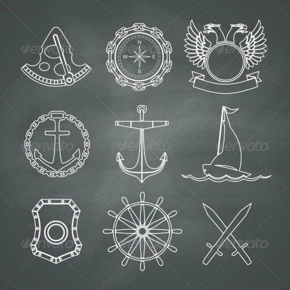 GraphicRiver Nautical Design Elements 8435906