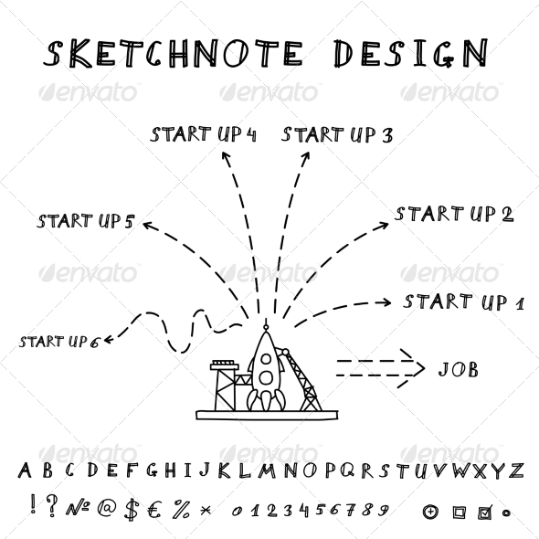 GraphicRiver Doodle Start Up Design 8435910