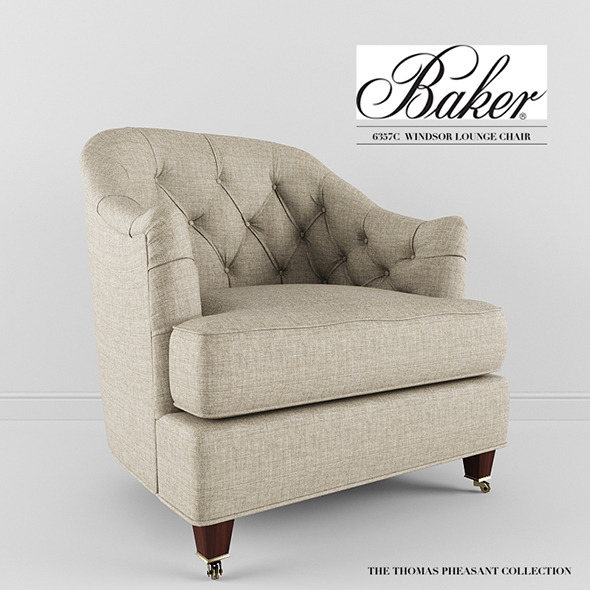 3DOcean Baker Furniture Windsor Lounge Chair 8435913